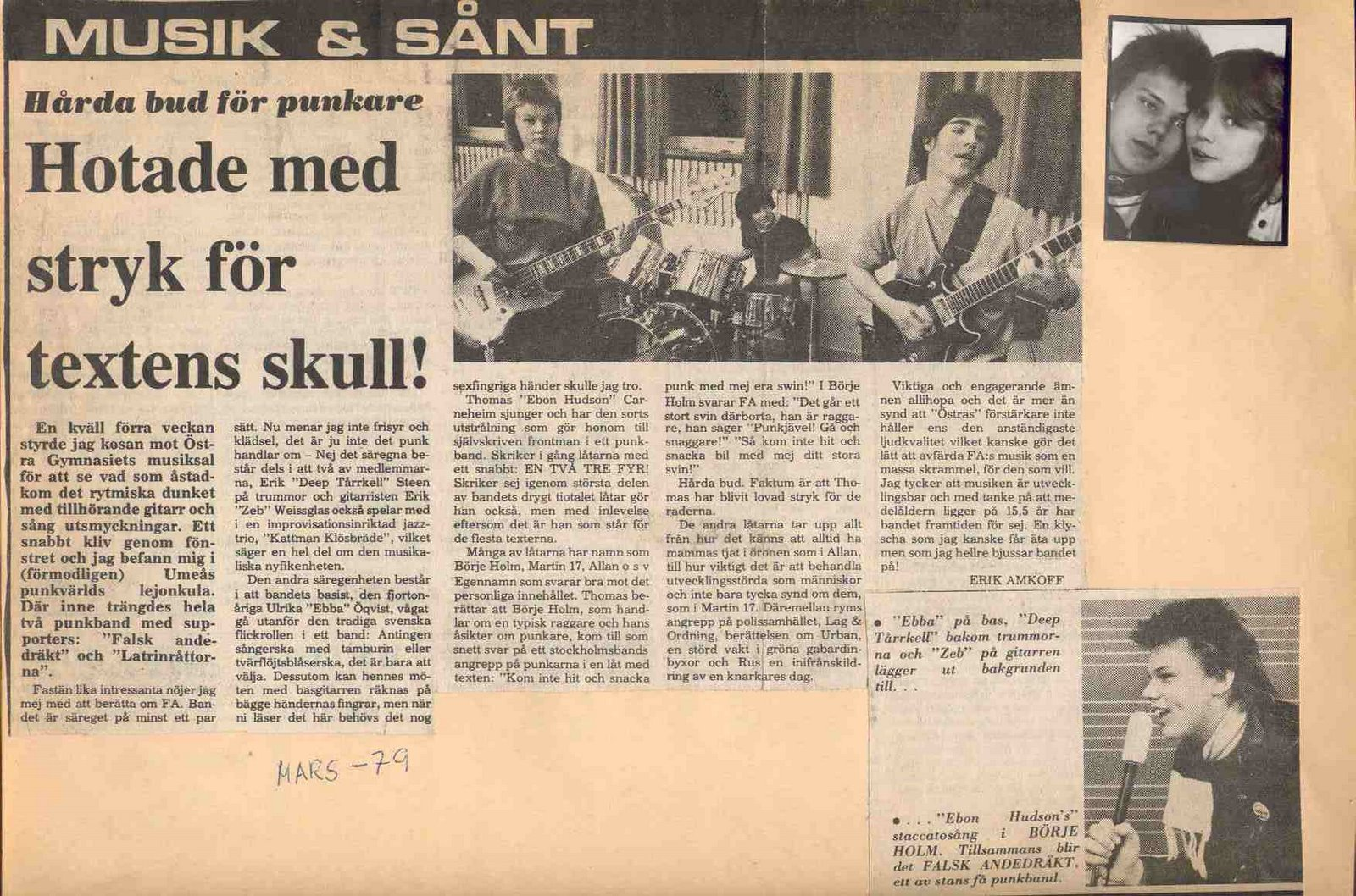 Newspaper clipping 1979