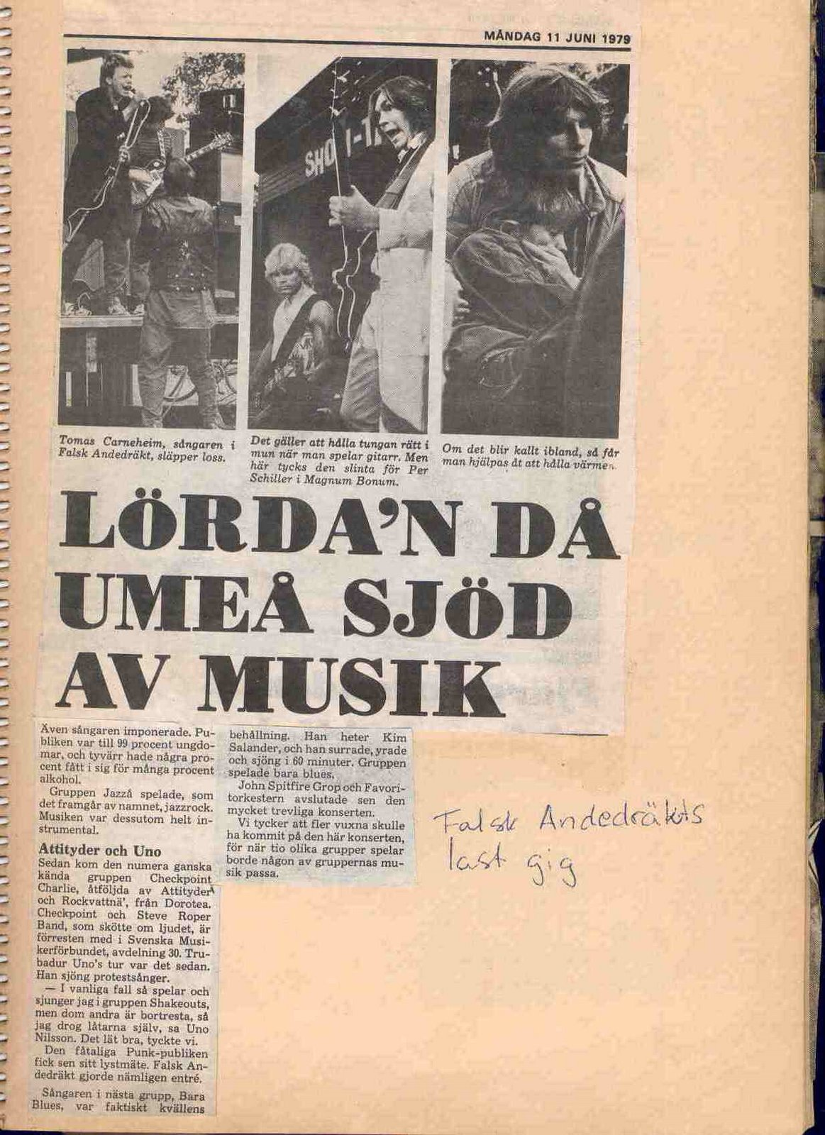 Newspaper clipping 1979 B